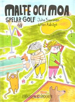 Malte och Moa spelar golf