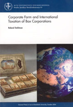 Corporate form and international taxation of box corporations