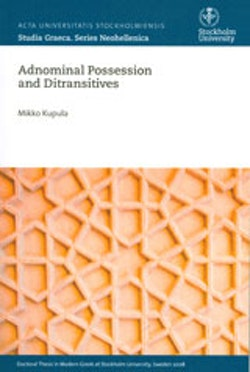Adnominal Possession and Ditransitives