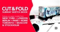 Cut & fold subway sketchbook : subway car paper models from New York, London, Berlin, Paris, Rome, Toronto, Moscow, Stockholm
