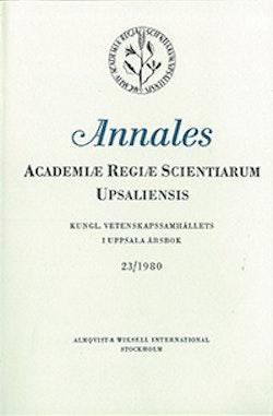 Kungl. Vetenskapssamhällets i Uppsala årsbok 23/1980