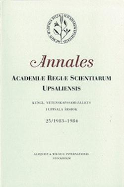 Kungl. Vetenskapssamhällets i Uppsala årsbok 25/1983-1984