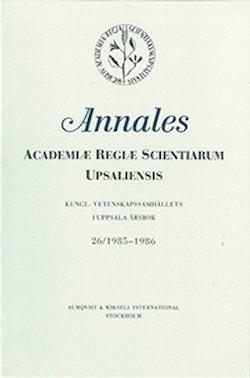 Kungl. Vetenskapssamhällets i Uppsala årsbok 26/1985-1986