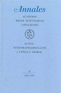 Kungl. Vetenskapssamhällets i Uppsala årsbok 29/1991-1992