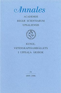 Kungl. Vetenskapssamhällets i Uppsala årsbok 31/1995-1996