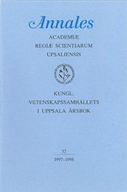 Kungl. Vetenskapssamhällets i Uppsala årsbok 32/1997-1998