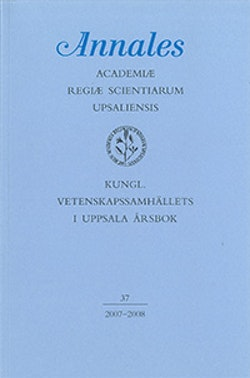 Kungl. Vetenskapssamhällets i Uppsala årsbok 37/2007-2008