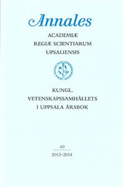 Kungl. Vetenskapssamhällets i Uppsala årsbok 40/2013-2014
