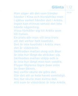 Glänta 1(2012) Arktis