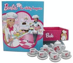 Barbie: En riktig bagare - Box med bok och porslinsservis