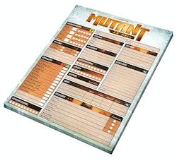 Mutant : år noll. Rollformulärsblock
