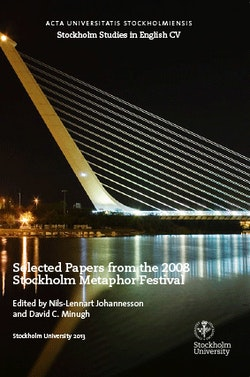 Selected Papers from the 2008 Stockholm Metaphor Festival