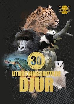 30 utrotningshotade djur