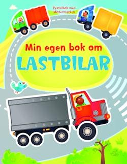 Min egen bok om lastbilar - pysselbok med klistermärken