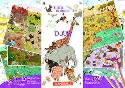 Djur - klistra och färglägg! : innehåller över 1 000 klistermärken