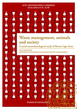 Waste management, animals and society