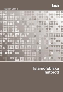 Islamofobiska hatbrott. Brå rapport 2021:3