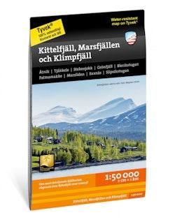 Kittelfjäll, Marsfjällen och Klimpfjäll 1:50 000
