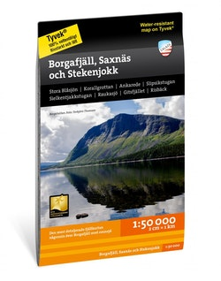 Borgafjäll, Saxnäs & Stekenjokk 1:50 000