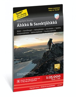Högalpin karta Áhkká & Sarektjåkkå 1:25.000