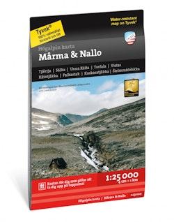 Högalpin karta Mårma & Nallo 1:25.000