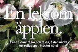 En lek om äpplen : frågor, fakta och ett spel med bilder.