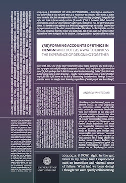 (re)Forming Accounts of Ethics in Design: Anecdote as a Way to Express the Experience of Designing Together